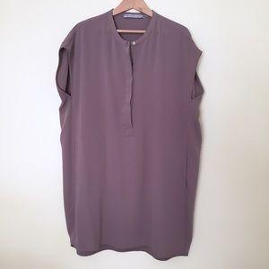 Andrew Marc / beige shift dress